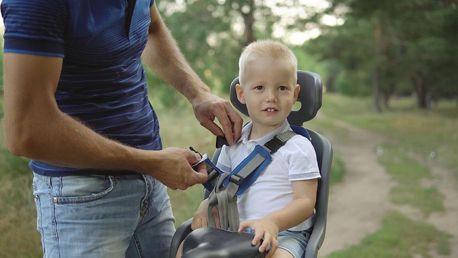 Cykelsitsen gör det enklare att cykla med små barn
